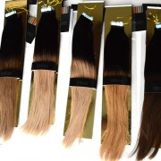 Ombre Skin Weft Tape In Hair Extensions 100% Indian Remy Human Hair 40pcs 100g [SWTO009]