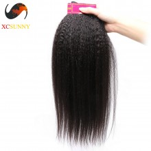 Wholesale-75% OFF 4A Kinky Straight 100% Unprocessed Brazilian Virgin Hair Weave Bundle 100g/pcs [BHV200]