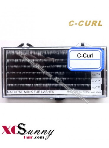 100% Authentic Mink Individual Eyelashes Extension Tray C Curl [MFE001]