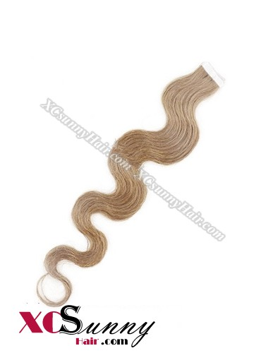 16 Inch - 26 Inch Body Wave #18 100% Indian Remy Human Hair Skin Weft Tape In Hair Extensions 20pcs 50g [SWTW5012]