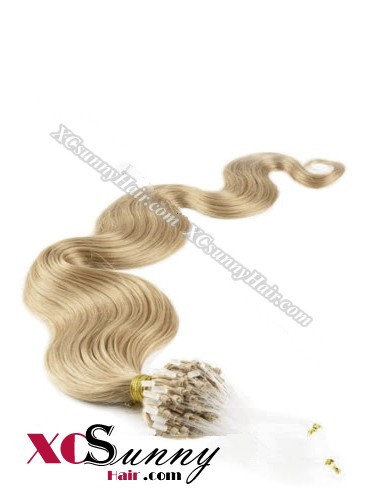 14 Inch - 26 Inch Body Wave #14 Micro Loop Ring Human Hair Extensions 0.5g*100s  [MLRB51010]
