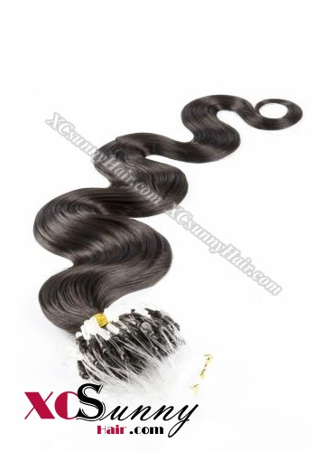14 Inch - 26 Inch Body Wave #2 Darkest Brown Micro Loop Ring Human Hair Extensions 0.5g*50s  [MLRB55003]