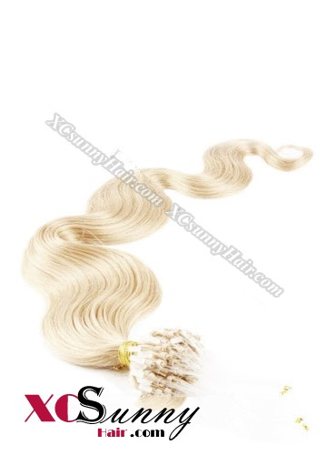 14 Inch - 26 Inch Body Wave #24 Micro Loop Ring Human Hair Extensions 0.8g*50s  [MLRB85014]