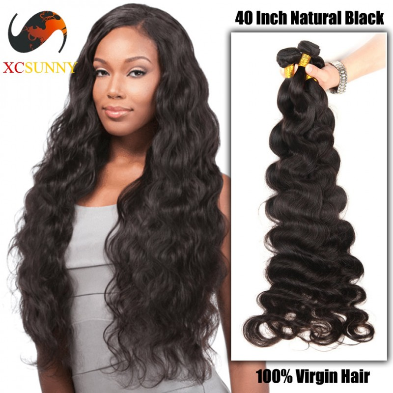 Wholesale 40 Inch Extra Long 9a Deluxe Body Wave 100 Brazilian