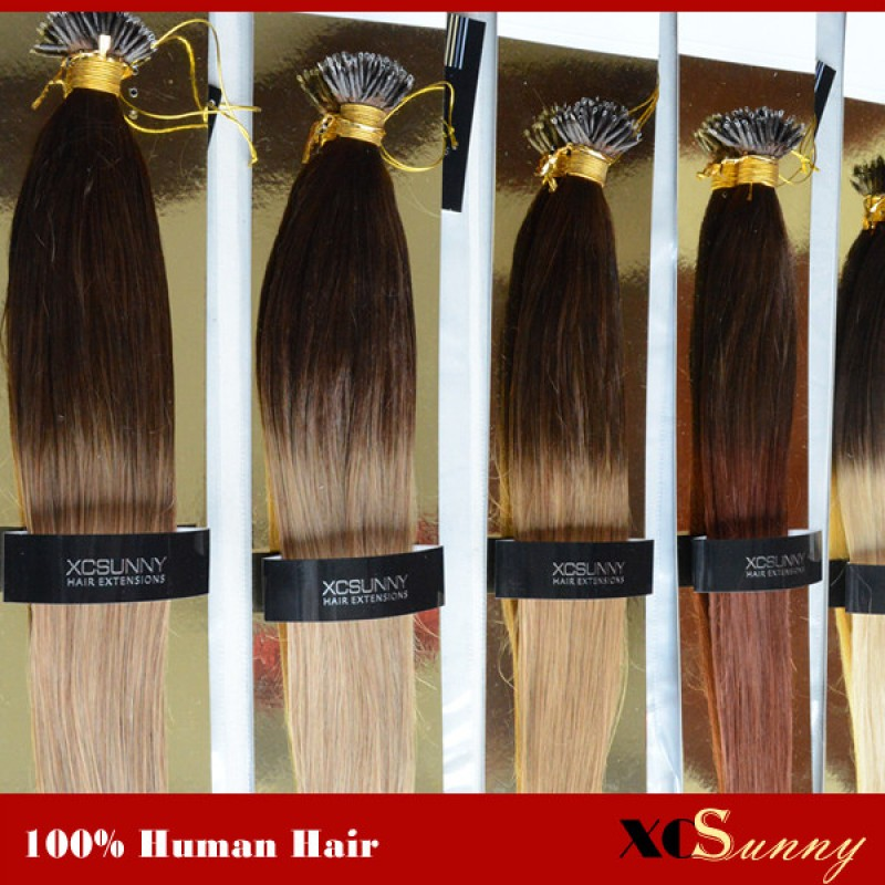 Wholesale 18 Inch 22 Inch Ombre Dip Dye Straight Nano Ring Hair