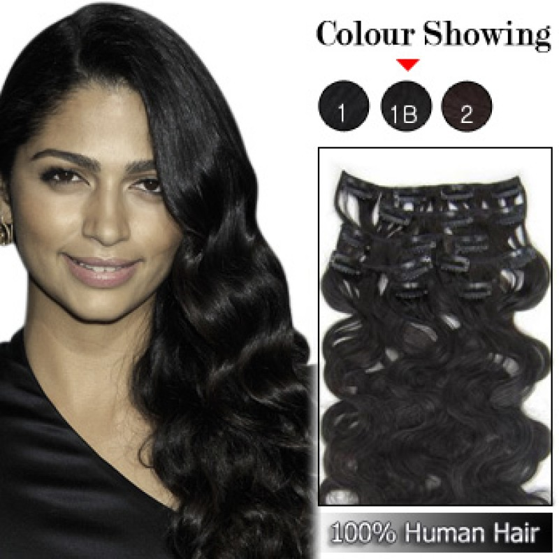 Wholesale 18 Inches 9pcs 100g Clips On 100 Brazilian Human Hair