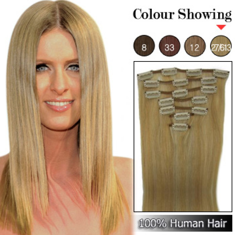 Quality clip in human hair extensions xcsunnyhair wholesale 15 inches 9pcs 90g clips on 100 brazilian human hair extensions pmusecretfo Image collections