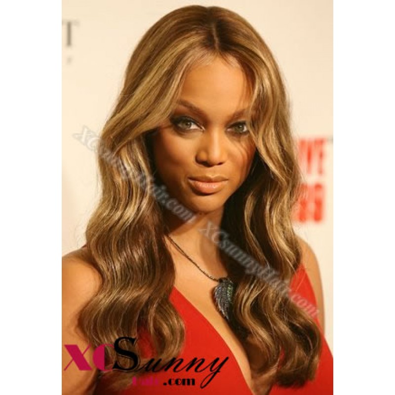 18 Inch #4/27 Full Lace Wigs Tyra Long Hairstyle 100% Indian Remy ...