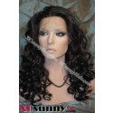 20 Inch Curly  #1B Glueless Lace Front Wigs 100% Indian Remy Human Hair [GLH101]