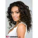 12 Inch Curly #1B Full Lace Wigs 100% Indian Remy Human Hair [FLH185]