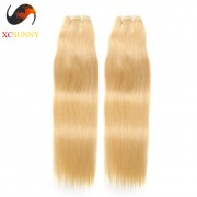Wholesale Mix Length 2pcs-14-26 Inch #613 8A Deluxe Straight 100% Brazilian Virgin Hair Weave Remy Human Hair Weft 100g/pcs [BHV602]