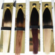 Ombre I Tip Hair Extensions Two Tone Dip Dye 100% Indian Remy Human Hair 40pcs 100g [ITDD002]