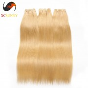 Wholesale Mix Length 3pcs-14-26 Inch #613 8A Deluxe Straight 100% Brazilian Virgin Hair Weave Remy Human Hair Weft 100g/pcs [BHV603]