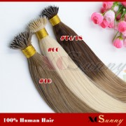 Wholesale-18 Inch - 22 Inch Ombre Dip Dye Straight Nano Ring Hair Extensions 100% Indian Remy Human Hair Extension 100g/pack, 1g/s [NRE011]