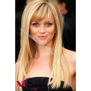 16 Inch #120 Full Lace Wigs Reese Witherspoon Long Hairstyle 100% Indian Remy Human Hair Custom [CFL015]