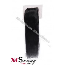 Indian 8A Straight Lace Closure Silk Base 8-20 inch 100%  Virgin Remy Human Hair Wholesale 100g/pcs [ILC001]