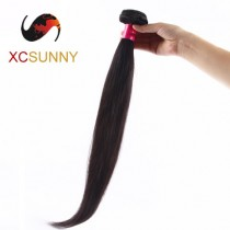Wholesale-75% Sale 12-26 Inch 4A Straight 100% Brazilian Virgin Hair Weave Remy Human Hair Weft 100g/pcs [BHV118]