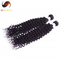 Wholesale-(12-26)Inch 4A Deep Wave 100% Peruvian Virgin Hair Weave Remy Human Hair Weft 100g/pcs [PHV003]