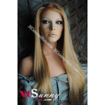 20 Inch Silky Straight #27/613 Full Lace Wigs 100% Indian Remy Human Hair [FLH299]