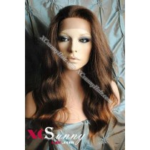 16 Inch Body Wave #T2/30 Glueless Full Lace Wigs 100% Indian Remy Human Hair [GFH300]