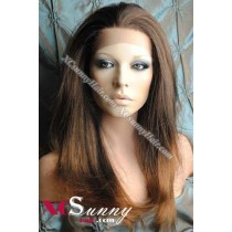 16 Inch Silky Straight #T2/30 Glueless Full Lace Wigs 100% Indian Remy Human Hair [GFH301]