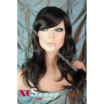 16 Inch Bobo Body Wave #1B Natural Black Full Lace Wigs 100% Indian Remy Human Hair [FLH310]