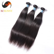 Wholesale Mix Length 3pcs-12-26 Inch 8A Deluxe Straight 100% Peruvian Virgin Hair Weave Remy Human Hair Weft 100g/pcs [PHV046]