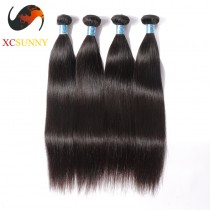 Wholesale Mix Length 4pcs-12-26 Inch 8A Deluxe Straight 100% Peruvian Virgin Hair Weave Remy Human Hair Weft 100g/pcs [PHV050]