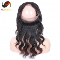 Wholesale- Pre Plucked 360 Lace Frontal Closure Body Wave 22x4x2 with Baby Hair Bleached Knots 100% Brazilian Virgin Hair [LFC032]