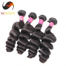 Wholesale Mix Length 4pcs-12-26 Inch 8A Deluxe Loose Wave 100% Malaysian Virgin Hair Weave Remy Human Hair Weft 100g/pcs [MHV113]