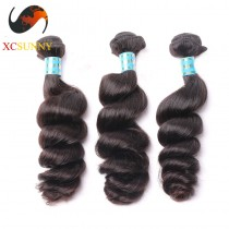 Wholesale Mix Length 3pcs-12-26 Inch 8A Deluxe Loose Wave 100% Peruvian Virgin Hair Weave Remy Human Hair Weft 100g/pcs [PHV048]