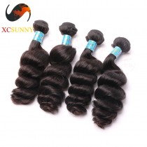 Wholesale Mix Length 4pcs-12-26 Inch 8A Deluxe Loose Wave 100% Peruvian Virgin Hair Weave Remy Human Hair Weft 100g/pcs [PHV052]