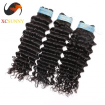 Wholesale Mix Length 3pcs-12-26 Inch 8A Deluxe Deep Wave 100% Peruvian Virgin Hair Weave Remy Human Hair Weft 100g/pcs [PHV049]