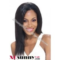 12 inch Silky Straight #1 Lace Front Wigs 100% Indian Remy Human Hair [LFH222]