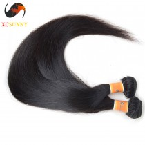 Wholesale-(12-26)Inch 4A Straight 100% Malaysian Virgin Hair Weave Remy Human Hair Weave 100g/pcs [MHV002]