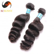 Wholesale Mix Length 2pcs-12-26 Inch 8A Deluxe Loose Wave 100% Peruvian Virgin Hair Weave Remy Human Hair Weft 100g/pcs [PHV044]