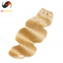 Wholesale-12-26 Inch #613 7A Deluxe Body Wave 100% Brazilian Virgin Hair Weave Remy Human Hair Weft 100g/pcs [BHV605]