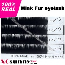 10 boxes 100% Authentic Mink Individual Eyelashes Extension Tray J Curl [MFE003]