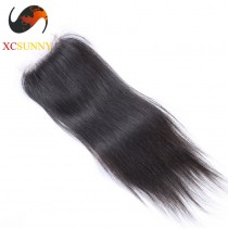 Peruvian 8A Straight Lace Closure Silk Base 8-20 inch 100%  Virgin Remy Human Hair Wholesale 100g/pcs [PLC003]