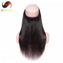 Wholesale- Pre Plucked 360 Lace Frontal Closure Straight 22x4x2 with Baby Hair Bleached Knots 100% Brazilian Virgin Hair [LFC031]