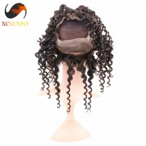 Wholesale- Pre Plucked 360 Lace Frontal Closure Deep Wave 22x4x2 with Baby Hair Bleached Knots 100% Brazilian Virgin Hair [LFC033]
