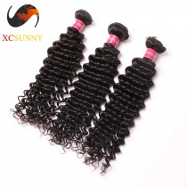 Wholesale Mix Length 3pcs-12-26 Inch 8A Deluxe Deep Wave 100% Malaysian Virgin Hair Weave Remy Human Hair Weft 100g/pcs [MHV110]