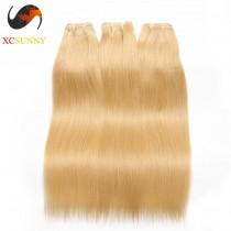 Wholesale Mix Length 3pcs-12-26 Inch #613 7A Deluxe Straight 100% Brazilian Virgin Hair Weave Remy Human Hair Weft 100g/pcs [BHV603]