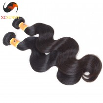 Wholesale-(12-26)Inch 4A Body Wave 100% Malaysian Virgin Hair Weave Remy Human Hair Weave 100g/pcs [MHV003]