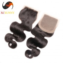 Malaysian 8A Body Wave  Closure 8-20 inch Body Wave 100%  Virgin Remy Human Hair Wholesale 100g/pcs [MHV008]