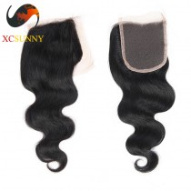 Brazilian 5A Body Wave Pre Plucked Lace Closure Silk Base 8-20 inch  100%  Virgin Remy Human Hair Wholesale 100g/pcs [BHV069]