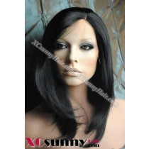 10 Inch Silky Straight #1 Full Lace Wigs 100% Indian Remy Human Hair [FLH041]
