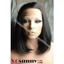 10 inch Silky Straight #1B Lace Front Wigs 100% Indian Remy Human Hair [LFH117]