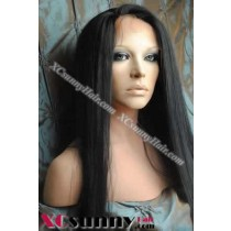 20 Inch Yaki Straight #1 Glueless  Full Lace Wigs 100% Indian Remy Human Hair [GFH016]
