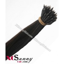 Wholesale-18 Inch - 22 Inch  #2 Darkest Brown Straight Nano Ring Hair Extensions 100% Indian Remy Human Hair Extension 100g/pack, 1g/s [NRE003]